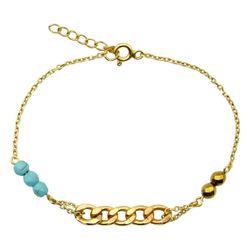 دستبند طلا 18 عیار زنانه مانچو کد bfgs010