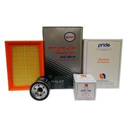 مجموعه تعویض روغن خودرو بهران فیلتر مدل HM1332/4 مناسب برای پراید EURO4  ظرفیت 4 لیتر