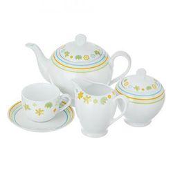سرویس چای خوری 17 پارچه چینی زرین ایران سری ایتالیا اف مدل مایورکا