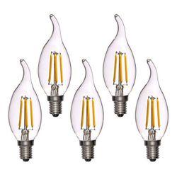 لامپ ال ای دی فیلامنت 4 وات پایه E14 کد 1004/5 بسته 5 عددی