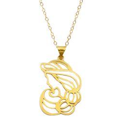 گردنبند طلا 18 عیار زنانه کاپانی طرح مادر کد KN038