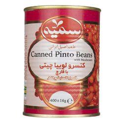 کنسرو لوبیا چیتی با قارچ سمیه مقدار 400 گرم