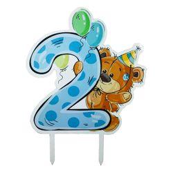 تاپر تزیین کیک مدل Second Birthday