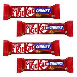 ویفر با روکش شکلات چانکی کیت کت مقدار 38 گرم بسته 4 عددی