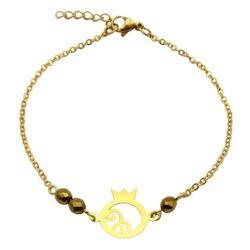 دستبند طلا 18 عیار زنانه مانچو طرح انار شب یلدا کد bfg179