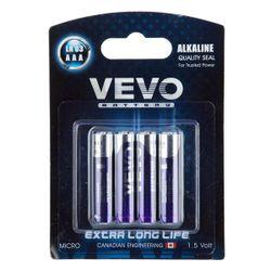 باتری نیم قلمی ویوو مدل Alkaline LR03 بسته 4 عددی