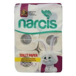 دستمال توالت نارسیس کد 2 بسته 6 عددی دو لایه