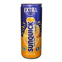 نوشیدنی اکسترا پرتقال سان کوئیک حجم 240 میلی لیتر