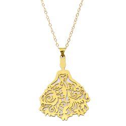 گردنبند طلا 18 عیار زنانه کاپانی طرح عروس کد KN033