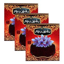 زعفران سرگل درجه یک زعیم مقدار 4.608 گرم بسته 3 عددی