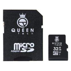 کارت حافظه microSDHC کوئین تک 300X کلاس 10 استاندارد UHS-I U1 سرعت 45MBps ظرفیت 32 گیگابایت به همراه آداپتور SD