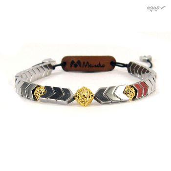 دستبند طلا 18 عیار زنانه مانچو کد bfg122