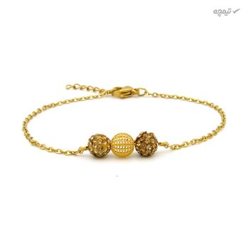 دستبند طلا 18 عیار زنانه مانچو کد bfg206
