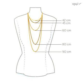 گردنبند طلا 18 عیار زنانه مانچو کد sfg646