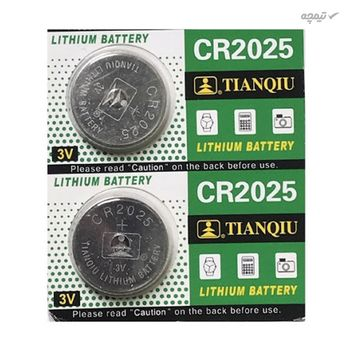 باتری سکه ای تیانکیو CR2025 3V بسته 5 عددی