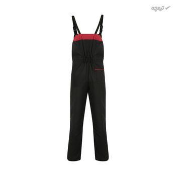 لباس کار مدل دوبنده رنگ مشکی قرمز