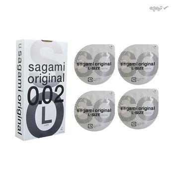 کاندوم بسیار نازک ساگامی مدل Large بسته 4 عددی