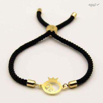 دستبند طلا 18 عیار زنانه مانچو طرح انار یلدا کد bfg181