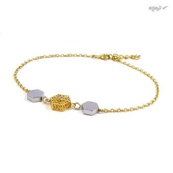دستبند طلا 18 عیار زنانه مانچو کد bfgs005