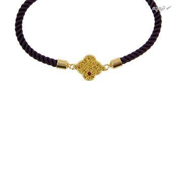 دستبند طلا 18 عیار زنانه مانچو کد BFG154