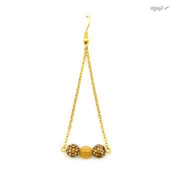 گوشواره طلا 18 عیار زنانه مانچو مدل efg015