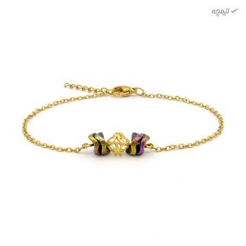 دستبند طلا 18 عیار زنانه مانچو کد bfg205
