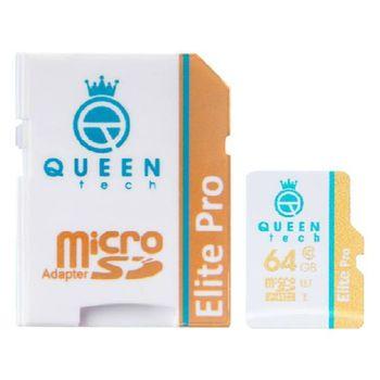 کارت حافظه microSDXC کوئین تک مدل Elite pro 566X کلاس 10 استاندارد UHS-I U1 سرعت 85MBps ظرفیت 64 گیگابایت به همراه آداپتور SD