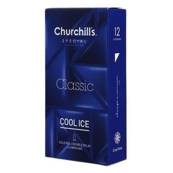 کاندوم چرچیلز مدل Cool Ice بسته 12 عددی