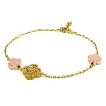 دستبند طلا 18 عیار زنانه مانچو مدل bfgs001