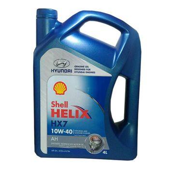 روغن موتور خودرو شل هلیکس مدل هیوندای حجم 4 لیتر