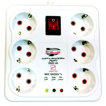 محافظ ولتاژ سارا مدل P256C با شش عدد پریز