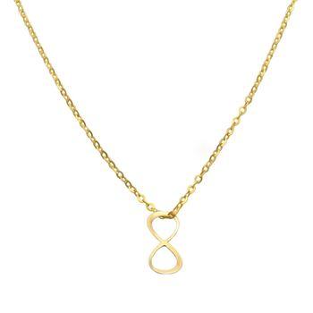 گردنبند طلا 18 عیار زنانه مانچو کد sfgs017
