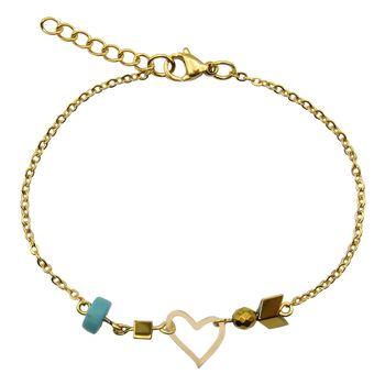 دستبند طلا 18 عیار زنانه مانچو کد bfg168