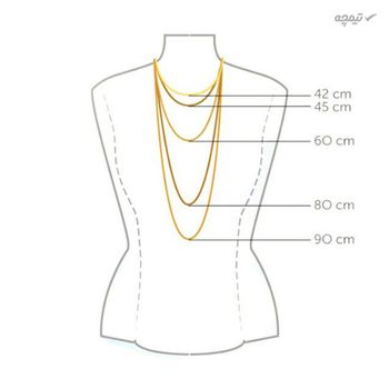 گردنبند طلا 18 عیار زنانه کاپانی مدل LOVE کد KN015