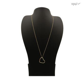 گردنبند طلا 18 عیار زنانه کاپانی طرح قلب کد KN011