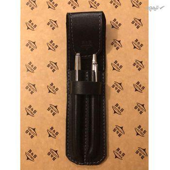کیف خودکار چرم طبیعی دست دوز مدل M رنگ مشکی B&S Leather