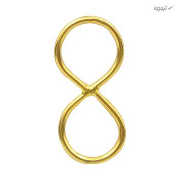 آویز گردنبند طلا 18 عیار زنانه کاپانی طرح بی نهایت کد KP003
