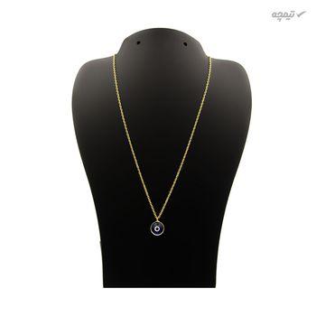 گردنبند طلا 18 عیار زنانه مانچو طرح چشم نظر کد sfg654