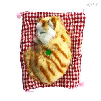 عروسک طرح گربه خوابالو کد 602 طول 16 سانتیمتر
