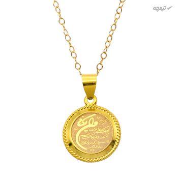 آویز گردنبند طلا 18 عیار زنانه کاپانی طرح و ان یکاد کد KP016