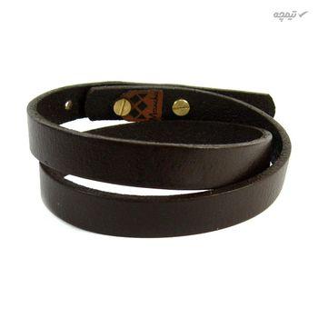 دستبند چرم و طلا 18 عیار مانچو مدل bfg069