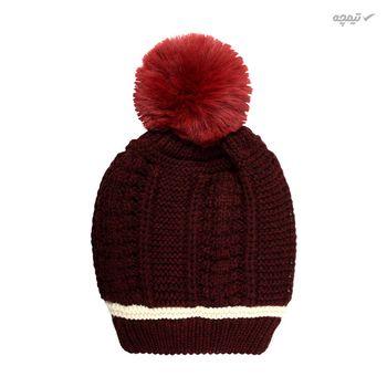 ست کلاه و شال گردن بافتنی دخترانه مدل D3-0214