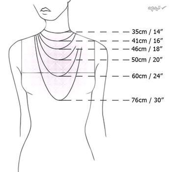 گردنبند طلا 18 عیار زنانه مانچو مدل sfg633