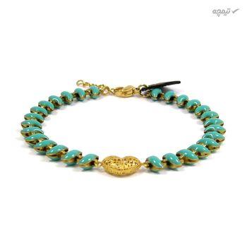 دستبند طلا 18 عیار زنانه مانچو کد bfg165