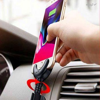 پایه نگهدارنده و هولدر گوشی موبایل با قابلیت شارژ باسئوس مدل O-Type Car Mount Cable