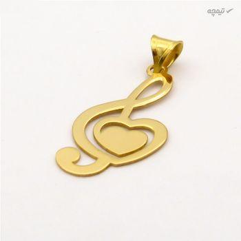نیم ست طلا 18 عیار زنانه کاپانی طرح قلب کد KS017