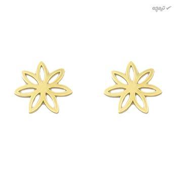 نیم ست طلا 18 عیار زنانه کاپانی طرح گل کد KS014
