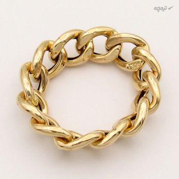 انگشتر طلا 18 عیار زنانه کاپانی کد KR001-S7