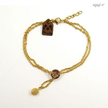 دستبند طلا 18عیار زنانه مانچو مدل bfg144