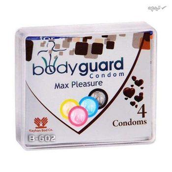کاندوم ایکس دریم مدل Super Collar به همراه کاندوم بادی گارد مدل مکس پلژر بسته 4 عددی